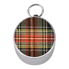 Fabric Texture Tartan Color Mini Silver Compasses