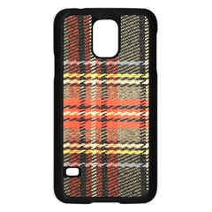 Fabric Texture Tartan Color Samsung Galaxy S5 Case (Black)