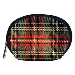 Fabric Texture Tartan Color Accessory Pouches (medium)