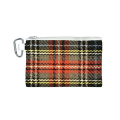 Fabric Texture Tartan Color Canvas Cosmetic Bag (S)