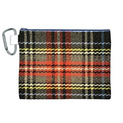Fabric Texture Tartan Color Canvas Cosmetic Bag (xl)