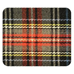 Fabric Texture Tartan Color Double Sided Flano Blanket (Small)