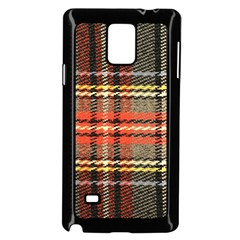 Fabric Texture Tartan Color Samsung Galaxy Note 4 Case (black)