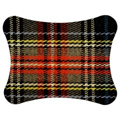 Fabric Texture Tartan Color Jigsaw Puzzle Photo Stand (Bow)