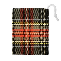 Fabric Texture Tartan Color Drawstring Pouches (extra Large)