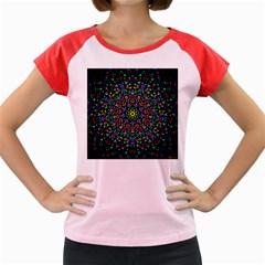 Fractal Texture Women s Cap Sleeve T-Shirt