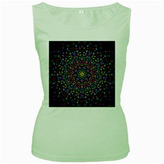 Fractal Texture Women s Green Tank Top