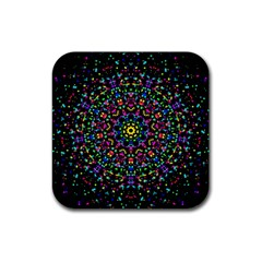 Fractal Texture Rubber Square Coaster (4 pack)