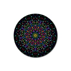 Fractal Texture Rubber Round Coaster (4 pack)