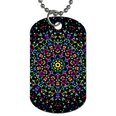 Fractal Texture Dog Tag (Two Sides)