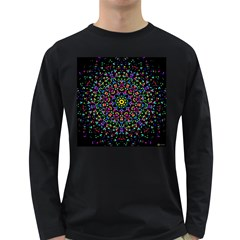 Fractal Texture Long Sleeve Dark T-Shirts