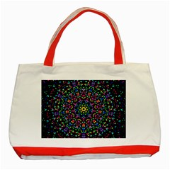 Fractal Texture Classic Tote Bag (red)