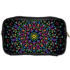 Fractal Texture Toiletries Bags 2 Side