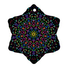 Fractal Texture Snowflake Ornament (Two Sides)