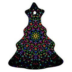 Fractal Texture Christmas Tree Ornament (Two Sides)