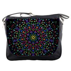 Fractal Texture Messenger Bags
