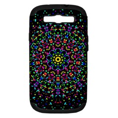 Fractal Texture Samsung Galaxy S III Hardshell Case (PC+Silicone)