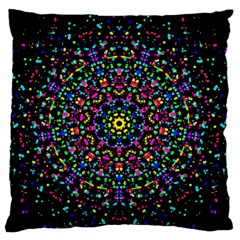 Fractal Texture Large Flano Cushion Case (two Sides)