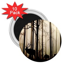 Forest Fog Hirsch Wild Boars 2 25  Magnets (10 Pack)