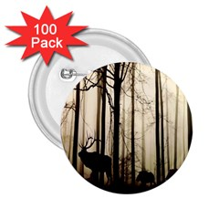 Forest Fog Hirsch Wild Boars 2.25  Buttons (100 pack)