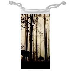 Forest Fog Hirsch Wild Boars Jewelry Bag