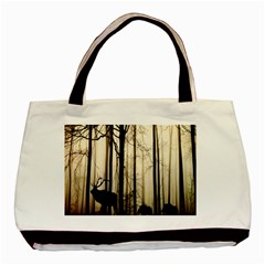 Forest Fog Hirsch Wild Boars Basic Tote Bag