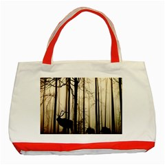 Forest Fog Hirsch Wild Boars Classic Tote Bag (Red)
