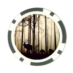 Forest Fog Hirsch Wild Boars Poker Chip Card Guard