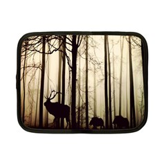 Forest Fog Hirsch Wild Boars Netbook Case (Small)