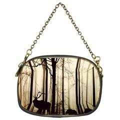Forest Fog Hirsch Wild Boars Chain Purses (One Side)