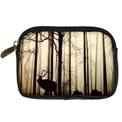 Forest Fog Hirsch Wild Boars Digital Camera Cases