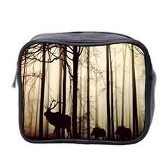 Forest Fog Hirsch Wild Boars Mini Toiletries Bag 2-Side