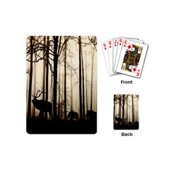 Forest Fog Hirsch Wild Boars Playing Cards (Mini)