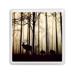 Forest Fog Hirsch Wild Boars Memory Card Reader (Square)