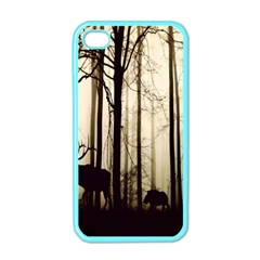 Forest Fog Hirsch Wild Boars Apple iPhone 4 Case (Color)