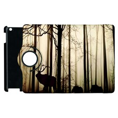 Forest Fog Hirsch Wild Boars Apple iPad 3/4 Flip 360 Case