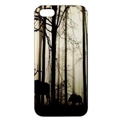 Forest Fog Hirsch Wild Boars Apple iPhone 5 Premium Hardshell Case