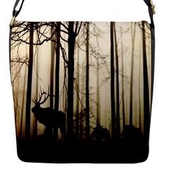 Forest Fog Hirsch Wild Boars Flap Messenger Bag (s)