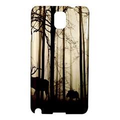 Forest Fog Hirsch Wild Boars Samsung Galaxy Note 3 N9005 Hardshell Case