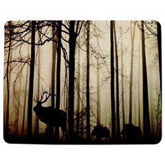 Forest Fog Hirsch Wild Boars Jigsaw Puzzle Photo Stand (Rectangular)