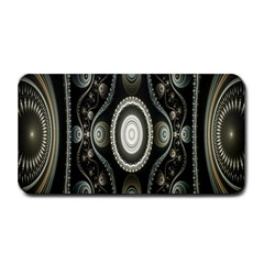Fractal Beige Blue Abstract Medium Bar Mats