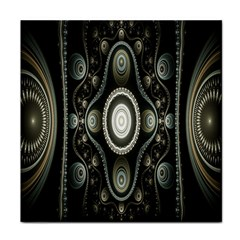 Fractal Beige Blue Abstract Face Towel
