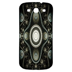 Fractal Beige Blue Abstract Samsung Galaxy S3 S Iii Classic Hardshell Back Case