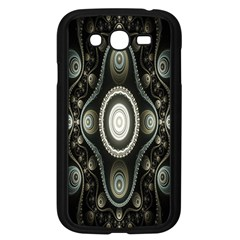 Fractal Beige Blue Abstract Samsung Galaxy Grand Duos I9082 Case (black)