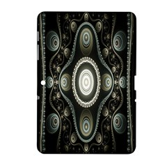 Fractal Beige Blue Abstract Samsung Galaxy Tab 2 (10 1 ) P5100 Hardshell Case
