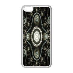 Fractal Beige Blue Abstract Apple Iphone 5c Seamless Case (white)