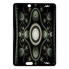 Fractal Beige Blue Abstract Amazon Kindle Fire Hd (2013) Hardshell Case