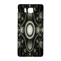 Fractal Beige Blue Abstract Samsung Galaxy Alpha Hardshell Back Case