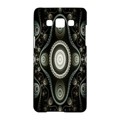 Fractal Beige Blue Abstract Samsung Galaxy A5 Hardshell Case