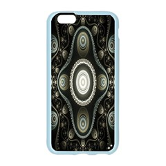 Fractal Beige Blue Abstract Apple Seamless iPhone 6/6S Case (Color)